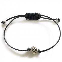 Морской плетеный браслет с ракушкой