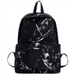 Черный мраморный рюкзак школьный