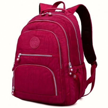 Большой школьный рюкзак Tegaote красный