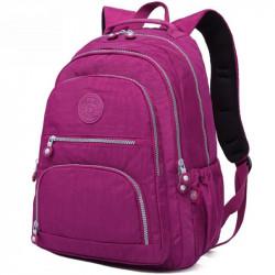 Большой школьный рюкзак Tegaote красно-фиолетовый