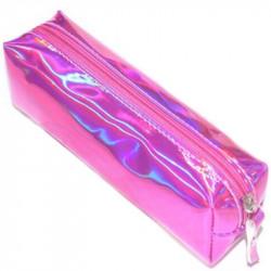 Ярко розовый голографический пенал