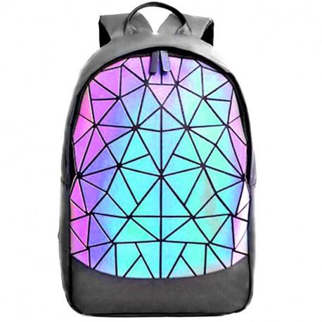 Школьный голографический рюкзак мозаика