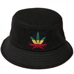 Панама с коноплей черная